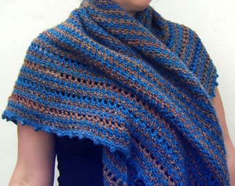 Crochet Pattern - Damselfly Shawl Wrap DK Instant Download PDF