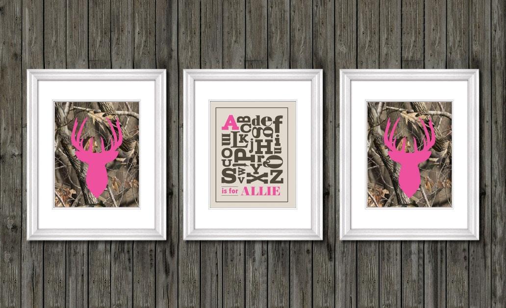 Girls nursery decor pink camo nursery decor personalized