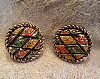 Sarah Coventry vintage clip on earnings.