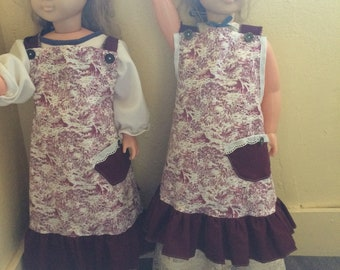 Red Toille Child's Apron
