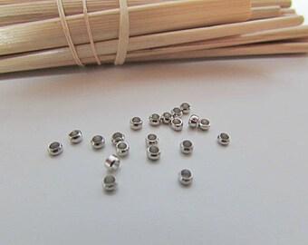 Crimp, metal bronze, silver, gold, copper, 0.5 mm - 1 mm - 1.5 mm, 2 mm bead