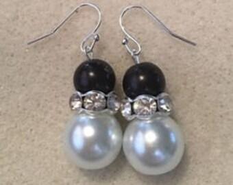 Handmade earings, pearls