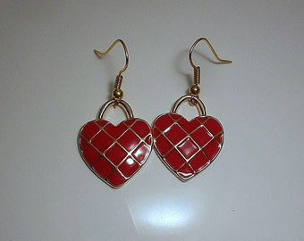 Mother's Day Heart Charm Earrings