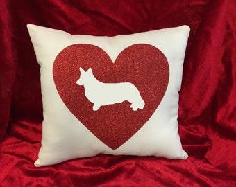Cardigan Welsh Corgi throw pillow.  Great present for the Cardigan Welsh Corgi lover!
