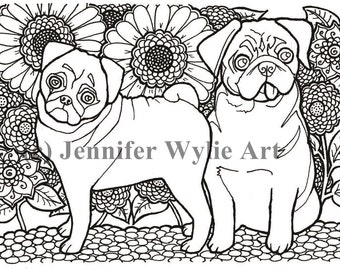 Items similar to Chihuahua Adult Dog Coloring Page - Colouring ...