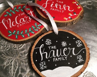 Personalized Christmas ornament |  Family Ornament | Custom Ornament | Christmas Ornament | Housewarming Gift | Housewarming Gift |
