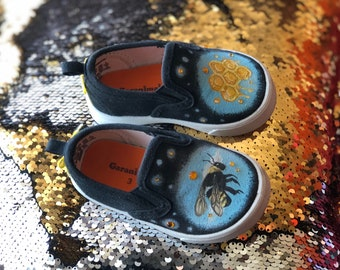 Hand-Painted Bee Shoes (Used)