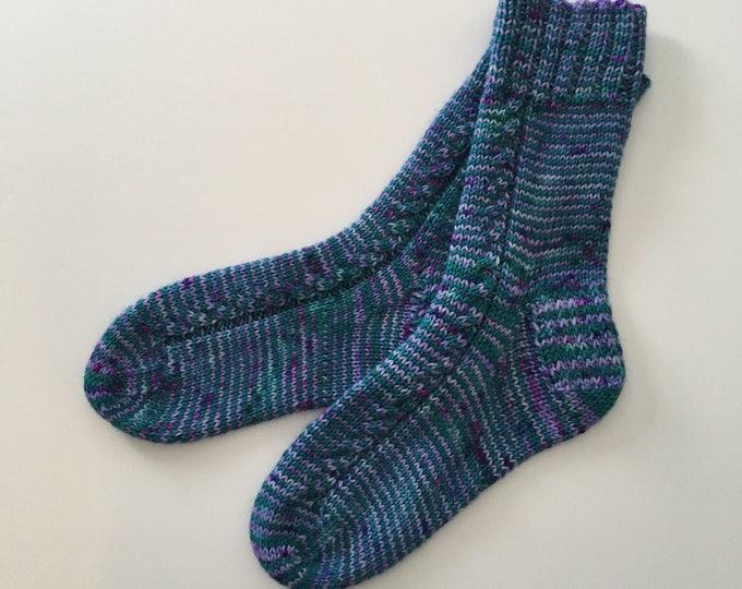 Bottom Merino and Nylon, size 4-5-6 US (20-22 cm) - hand knitted socks