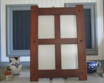 Arts & Crafts Mission Style ~Family Photo Frame~ Quartersawn White Oak Picture Frame Handcrafted Handmade