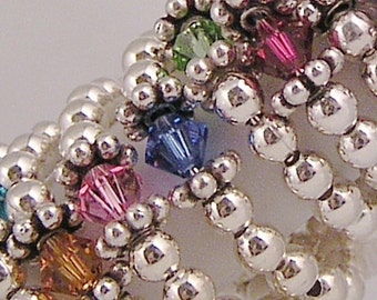 Birthstone ring - small sterling silver