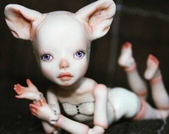 "Porcelain BJD Ball jointed doll ""Miu"" by Olesya Kudryashova."