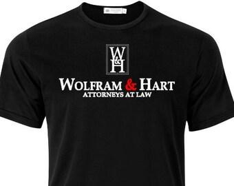 Wolfram & Hart Shirt - Buffy the Vampire Slayer - chosen - Spike - Angel - Xander - Willow -Vampires - Demons - Forces of Darkness