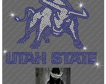 Utah State Rhinestone Bling Shirt