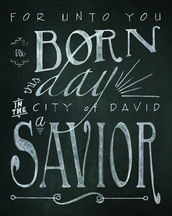 Amazing Christmas Bible Verse Printable Chalk Art   2 24x36 Typography Designs //  Instant Download