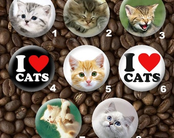 8 Cats Limited Edition Tribute Button Set - Wholesale Pricing