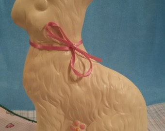 Ceramic White Chocolate Colored Easter Bunny