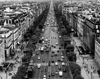 The Champs-Elysees...