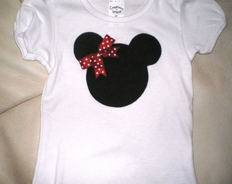 Mini Mouse Shirt, Mini Mouse Toddler Onsie, Mini Mouse Baby Onsie