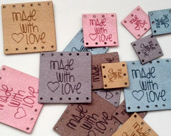 Custom tag, ultra suede, tag, fabric custom tag, personalized, suede tag, engraved tag, button, knitting button, craft button, business tag,