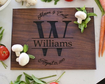 Personalized Cutting Board Wedding Gift Bridal Shower Engagement Party Christmas Valentines Day Birthday Gift Anniversary (NVMHDA1205)