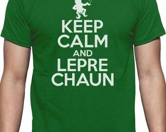 Keep Calm & Leprechaun St Patrick's Day T-Shirt