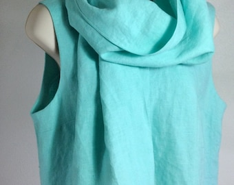 100% Linen Shawl or Prayer Covering - Damaris Shawl - Choose Your Color