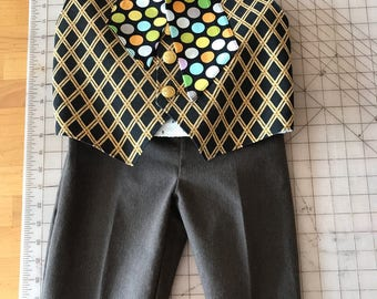 Boys Mad Hatter Outfit Pants, Tie Vest  inspired by Jonny Depp's