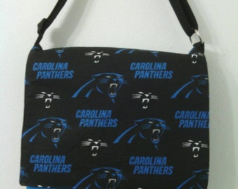 Carolina Panthers Inspired Messenger, Cross Body Bag, Child Bag