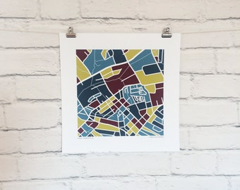 NoDa Charlotte NC Map Print