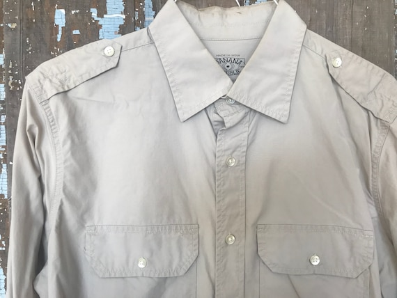 SALE! 20% OFF- Vintage Banana Republic Safari Shirt xZfXG5yzNR