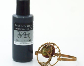 Best Patina Gel - Oxidize Brass, Bronze, Copper, Sterling Silver - Liver of Sulfur -  Free Jump Ring Sample Included - 100% Guarantee