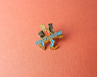 Vintage Star's Music musician guitar synthesizer music store badges Cool Rock Blond 90's Enamel Pin