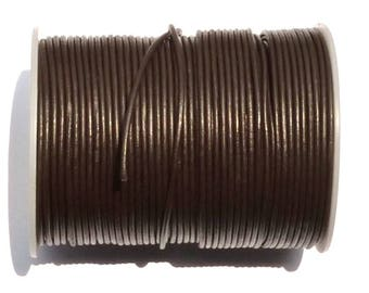 1 meter of chocolate brown waxed cord 1 mm