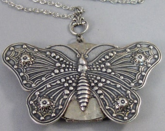 silver locket lockets set bff butterfly tone necklace best index friends