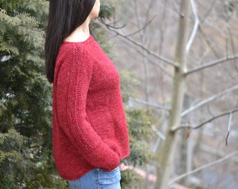 Day Off Jumper Sweater, Knitting Pattern, Knitted Sweater,