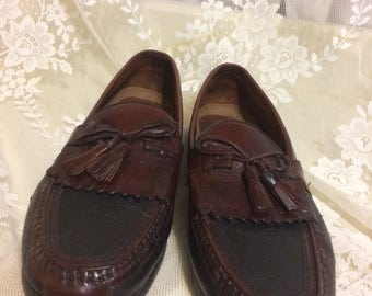 Men's Brown and Black Tassel  Loafers
