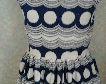 Dress, Vintage dress, 1950s vintage dress,50s dress, Polka dots dress,vintage summer dress,