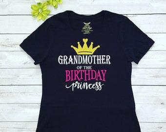 Grandmother of the Birthday Princess, Grandmoter aslo available any family member,Custom made Gramdmother T-shirt
