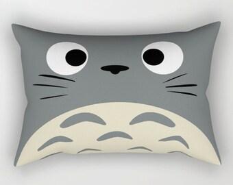 Totoro Catbus Soot Sprite Wall Clock In Natural Wood Black