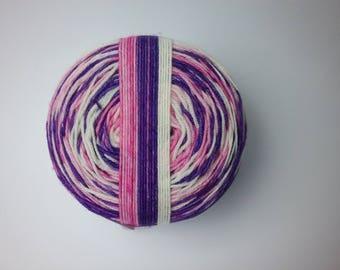 Stick of Rock self striping hand dyed superwash merino/nylon fingering/4ply/sock yarn