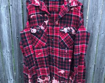 Shredded flannel - shoulders out