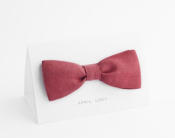 Dark rose bow tie - MADE TO ORDER