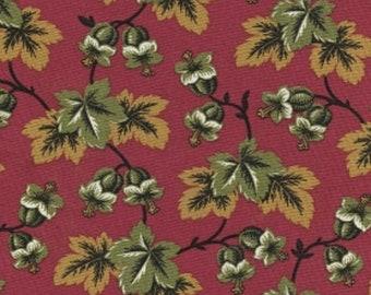 Autmn Landscape Thimbleberries Garden Gold   Cotton Quilt Fabric