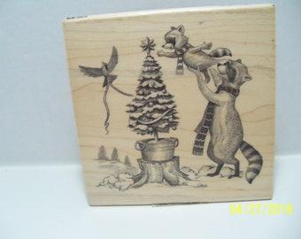 Inkadinkado wood mounted rubber stamp