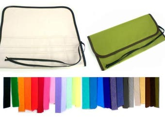 Choose Colors / XL / 96-pencil roll / Colored Pencil Roll Up / Art Travel Roll /