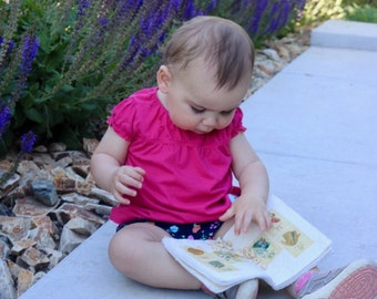 Look mommy! No more torn pages with this Quiet Soft Books for Babies Keepsake. Personalized with their Name.