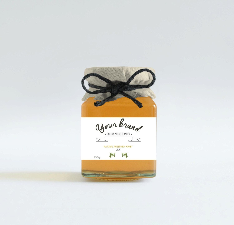 Custom honey labels Honey favors Customizable jar labels
