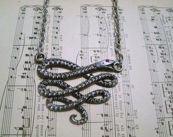 Snake Necklace, wiccan jewelry pagan jewelry wicca jewelry men's jewelry witch witchcraft magick gothic pagan necklace wiccan necklace