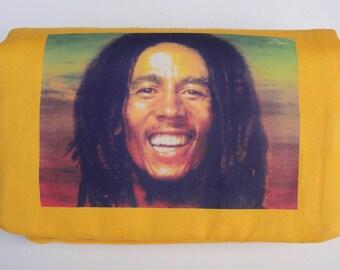 Bob Marley print tobacco pouch