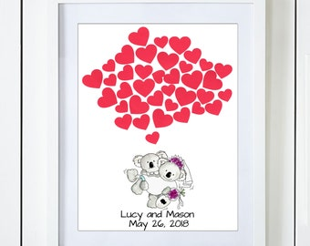 Koala Wedding Guest Book Alternative